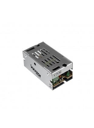 Alimentatore Metallico Stabilizzato Trimmer Vultech 12V 1A 12 Watt CM-01A-MS
