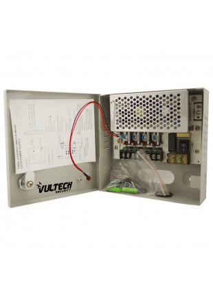 Box Alimentatore Stabilizzato Fusibili 4 Telecamere 5A 12V VULTECH CM-05A-4CH