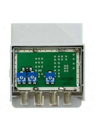 Amplificatore Schermato VHF da Palo Antenna Tv Life 1 Ingresso VHF