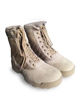 Anfibi Stivali Militari Scarpe Scarponi da Trekking Softair Caccia Tan Taglia 44