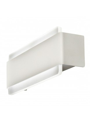 Applique Interno Bianco 25x10x6,5cm 12W Luce Bianca Calda 3000K Led Integrato