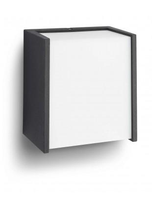 Applique Plafoniera Illuminazione Esterni Nera Moderna Luce Bianca Calda IP44