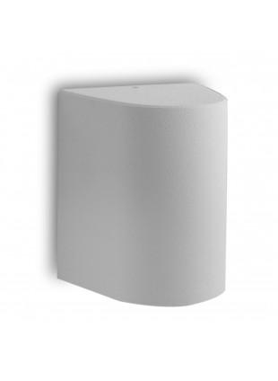 Lampada da Parete Attacco E27 in Resina Satinata Bianca 14,5x16,4x19,2cm