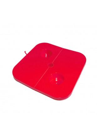 Tavolino Vassoio Tavolo x asta ombrelloni Piscina Spiaggia Mare 38x38x2 cm Rosso