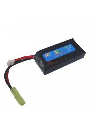 Pacco Batterie Batteria Lipo 1300 mAh 7.4V Softair