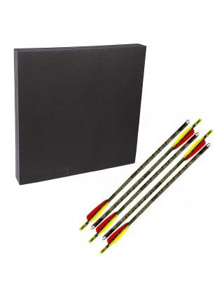 Kit Battifreccia quadrato 60x60cm schiuma sintetica Frecce alluminio Royal
