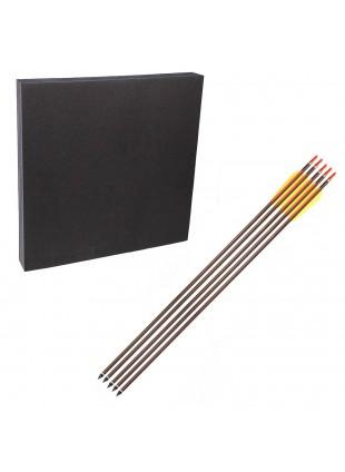 Battifreccia 60x60 cm con 5 Frecce in Alluminio 30 Pollici
