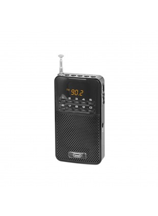 Mini radio Receiver FM Speaker Nero Altoparlante 40 memorie Autostore USB Trevi