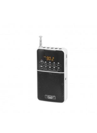 Mini radio portatile Batteria ricaricabile da USB Colore nero 58x106x25 mm Trevi