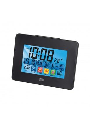 Sveglia Orologio Display 130x80 mm Orario Nero Touchscreen 3 batterie Termometro