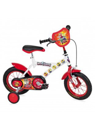 "Bicicletta Bambino BMX Bici Bimbo 12"" Super Warriors Bianca Made in Italy"