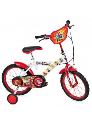 "Bicicletta Bambino BMX Bici Bimbo 16"" Super Warriors Bianca Made in Italy"