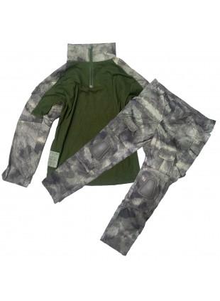 Completo Mimetica Vegetato + Pantalone Militare Taglia S Caccia Advance Atacs