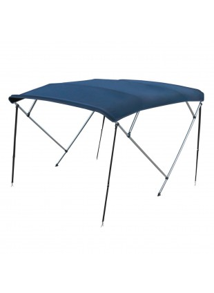 Capotta Capottina Tenda Tendalino Parasole Blu 4 Archi Alluminio 230 240 cm