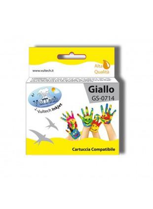 Cartuccia Compatibile Giallo per Stampante Epson Stylus SX110 SX210 DX4000 T0714