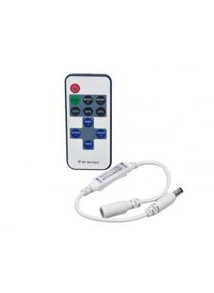 Mini Controller con Telecomando Radiocomando Carico 6 A 12/24 V per Strisce Led