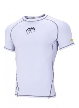 Maglietta Maglia per Uomo Bianca Sport Acquatici Taglia XL Aderente Traspirante