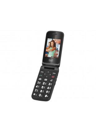 """Cellulare nero con sportellino numeri grandi display  LCD 2.4"""" grafica semplice"""