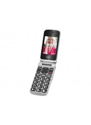 Cellulare Doppio Display Silver Tasti Grandi Bluetooth 2G Batteria lunga durata