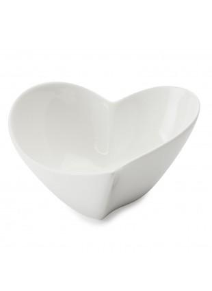 Ciotolina cuore Maxwell & William Bomboniera in porcellana bianca
