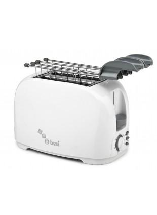 Tostapane 800 W Tostò Toaster Trevidea Toast Riscalda Scongela Bianco Timer