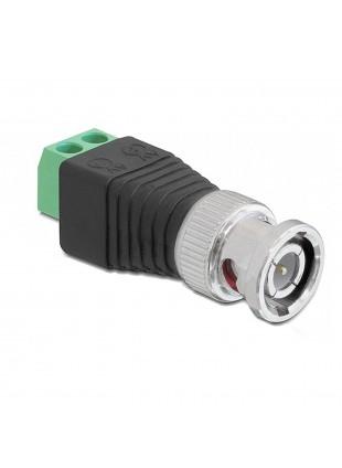 Adattatore Connettore BNC Attacco a Vite Cavo RG59 Telecamera Videosorveglianza