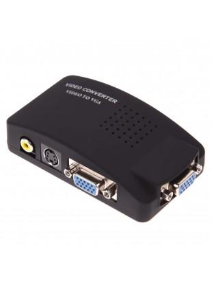 Convertitore Video da RCA S-Video a VGA per Monitor PC o Proiettori