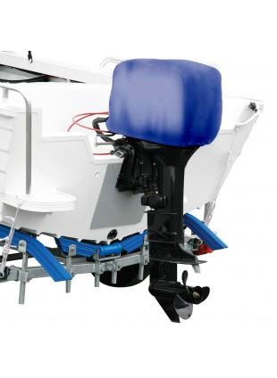 Telo Copri Motore Impermeabile Blu Copritesta per Barca Gommone Motori 60 100 HP
