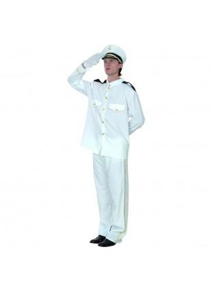 Costume Vestito di Capitano Marinaio Uomo Carnevale Taglia Unica