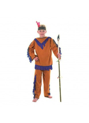 Vestito di Carnevale Indiano per Bambino Taglia M 7-10 Anni