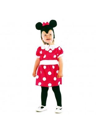 Vestito di Carnevale Topolina Minnie per Bambina Bimba 3-4 Anni 86 cm