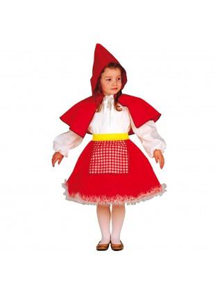 Vestito di Carnevale Cappuccetto Rosso per Bambina 3 4 Anni 86 cm