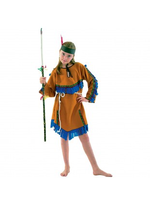 Costume di Carnevale per Bambina Vestito Indiana 11/14 Anni Taglia L
