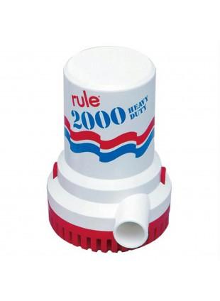 Pompa di Sentina Sommersa Ad Immersione Acque Sporche RULE 2000 GPH 12V Nautica