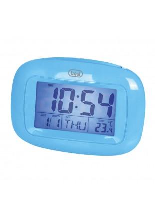 Sveglia Calendario Lcd Colore azzurro Allarme Ora Termometro Snooze 2 batterie