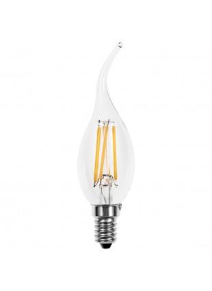 Lampadina Lampada LED Filamento Vintage Candela E14 Luce Calda LIGHT 4W 420 LM