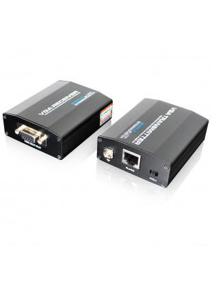 Extender VGA Prolunga Video Cavo di Rete LAN Ethernet CAT 5 per Monitor Pc Dvr