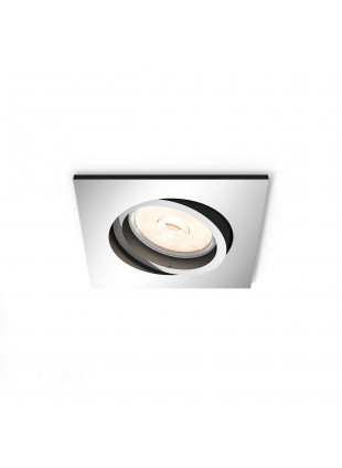 Porta Faretto Spot da Incasso Philips MyLiving Donegal Cromato GU10