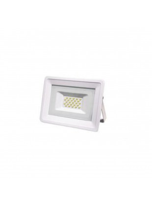 Faretto Proiettore Led per Giardino Luce Calda 3000 K Slim 1600 Lm 20 W Bianco