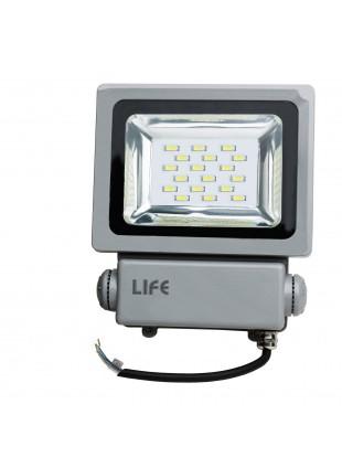 Faretto faro lampada 10W A led Da esterno IP65 Grigio Giardino Luce Calda