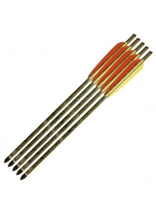 """5 Frecce Freccia Mimetica in Alluminio 16"""" Pollici Dardo per Balestra"""