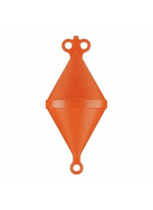 Galleggiante a doppio cono arancio boa ormeggio nautica mm 500 imbarcazioni