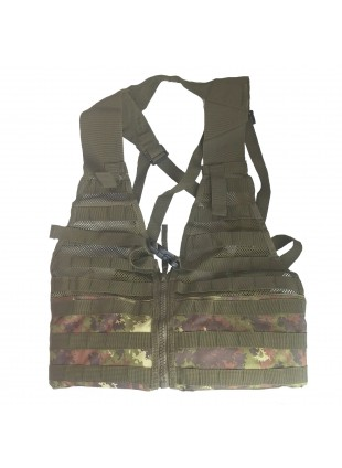 Gilet Corpetto Tattico Tactical Vest Molle Vegetato Italiano Softair