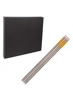 """Kit Bersaglio Booster sintetico e 5 Frecce in alluminio con punta fissa 30"""""""