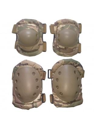 Set Ginocchiere Gomitiere di Protezione per Softair Multicam Royal