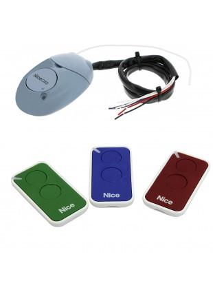 Kit 3 Telecomandi per Cancello Automatico + Ricevitore 433 Mhz NICE INTI