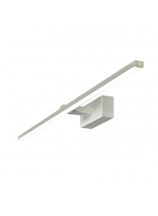 Applique a Led Moderno Bianco Cromato 1440 Lumen Luce Bianca Calda 16 Watt IP20