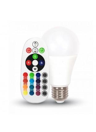 Lampadina Lampada Led E27 6W Bulb RGB con Telecomando V-TAC VT-2022
