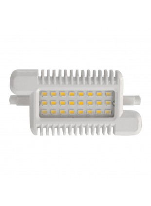 Lampada Faro Faretto Lampadina R7s 24 LED 10 Watt LIFE Luce Bianca Fredda 118mm