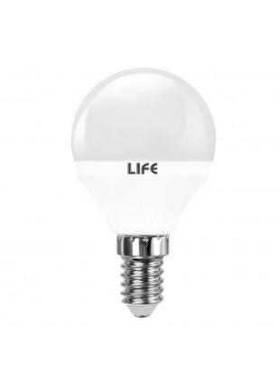 Lampada Lampadina E14 LED SMD LIFE 5,5W Minisfera Luce Calda 470 LUMEN